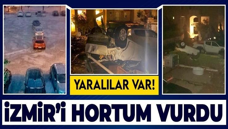 Son dakika: İzmir'de hortum paniği! Çatılar uçtu yaralılar var...