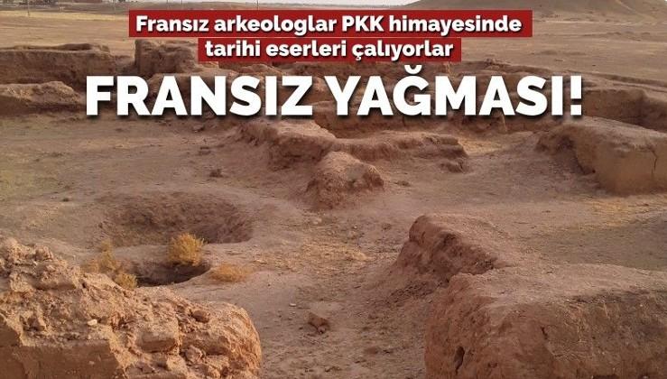 Yağma sırası yeraltına geldi... Fransız arkeologlar PKK himayesinde tarihi eserleri çalıyor!