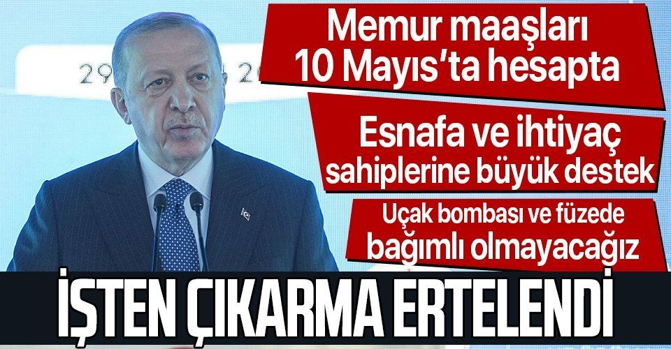 Erdoğan'dan önemli açıklamalar: 3 YIL ÖDEMESİZ, FAİZSİZ KREDİ