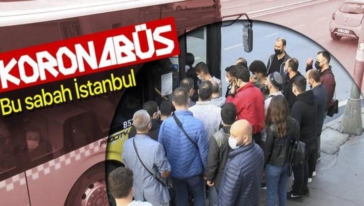 İstanbul'da toplu ulaşımda yoğunluk! Koronavirüs hiçe sayıldı. İBB otobüs seferlerini artırmıyor!