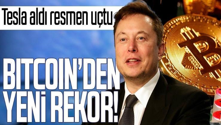 Tesla aldı resmen uçtu! Bitcoin'den tarihi rekor!
