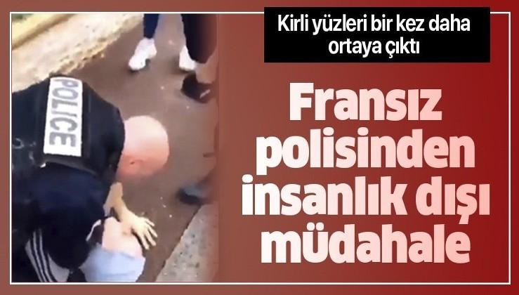 Son dakika: Fransız polisinden insanlık dışı müdahale! Kirli yüzü bir kez daha ortaya çıktı