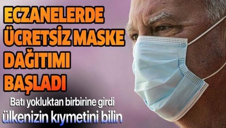 Son dakika: İstanbul'da eczanelerde ücretsiz maske dağıtımı başladı