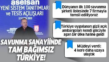Erdoğan'dan ASELSAN Yeni Sistem Tanıtımları ve Tesis Açılışları Töreni'nde önemli açıklamalar
