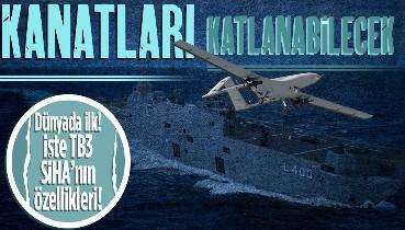 TCG Anadolu ilk SİHA gemisi olacak! Bayraktar TB3 SİHA'nın özellikleri paylaşıldı: Kanatları katlanabiliyor!
