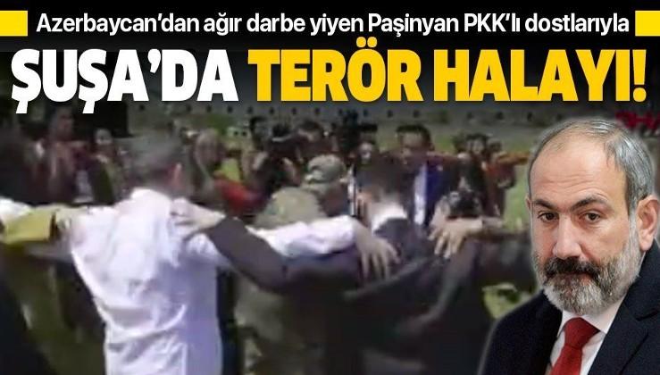 SON DAKİKA: Azerbaycan'ı yenemeyen Ermenistan'ın Başbakanı Paşinyan PKK yanlılarıyla omuz omuza