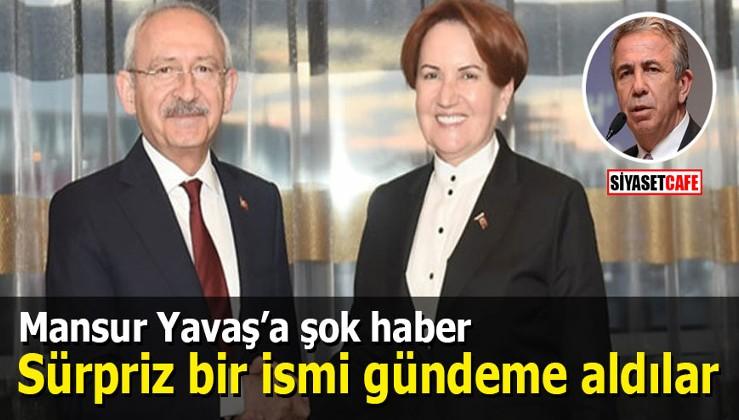Mansur Yavaş'a şok haber: İYİ Parti ve CHP sürpriz bir ismi gündeme aldı