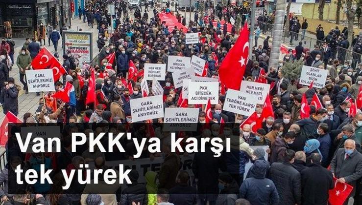 Van PKK'ya karşı tek yürek
