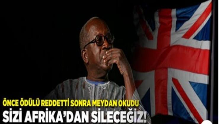 """İNGİLİZ KRALİYET AİLESİ ÖDÜLÜNÜ REDDETTİ VE GÖZLERİNİN İÇİNE BAKARAK MEYDAN OKUDU; """"SİZİ AFRİKA'DAN SİLECEĞİZ!"""""""