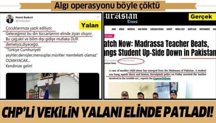 CHP'li Hüsnü Bozkurt'un algı operasyonu deşifre oldu!.