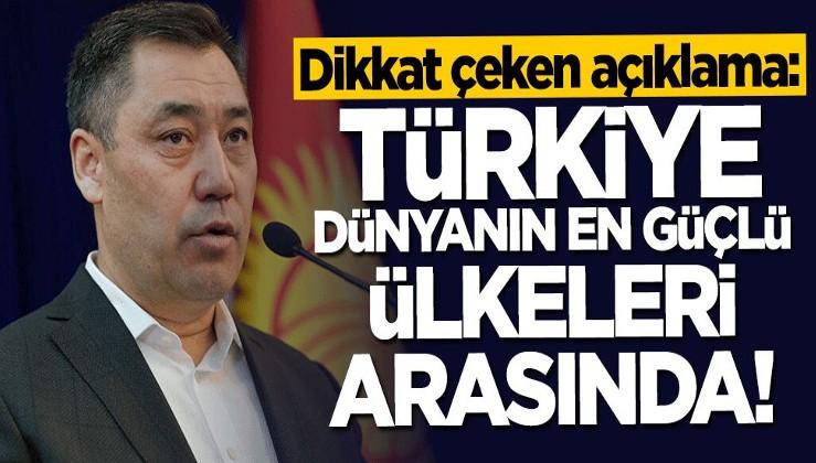 Dikkat çeken açıklama: Türkiye dünyanın en güçlü ülkeleri arasında