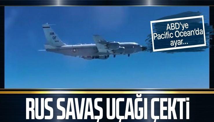 Havada tehlikeli anlar! Rus savaş uçağı, ABD keşif uçağını durdurdu