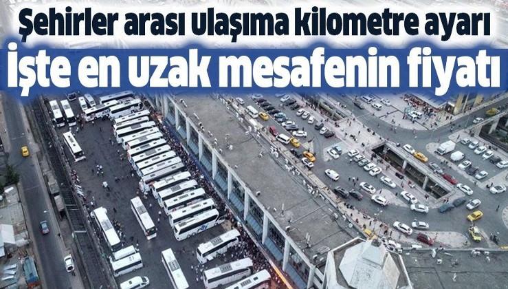Şehirler arası ulaşıma kilometre ayarı! İşte en yüksek otobüs bileti fiyatı