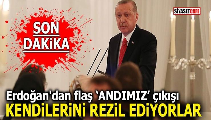 """Erdoğan'dan flaş andımız çıkışı! """"Kendilerini rezil ediyorlar"""""""