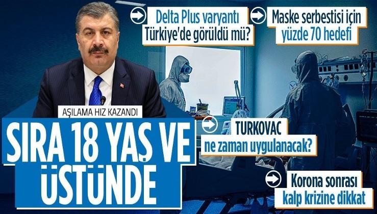 Sağlık Bakanı Fahrettin Koca Koronavirüs Bilim Kurulu sonrası açıkladı: 18 yaş ve üzeri için aşılama Cuma günü başlıyor