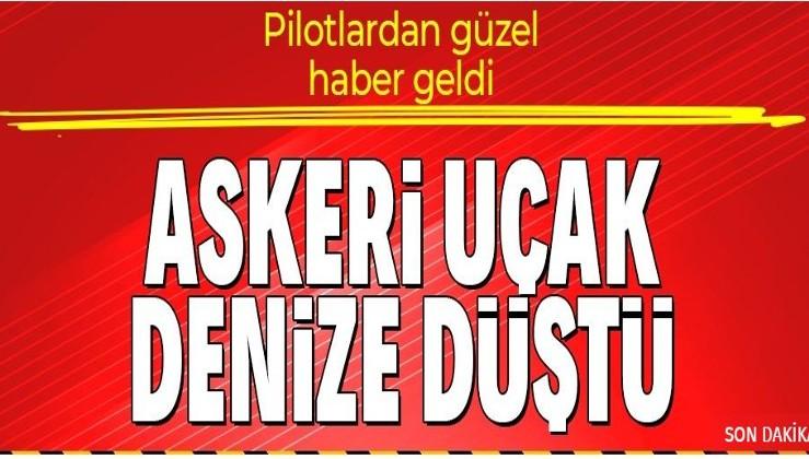 SON DAKİKA: İzmir'de askeri eğitim uçağı düştü! 2 pilot sağ olarak kurtarıldı