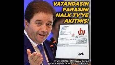 CHP'li Belediye Maltepelinin parasını Halk TV'ye akıtıyor!