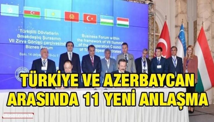 Türkiye ve Azerbaycan arasında 11 yeni anlaşma
