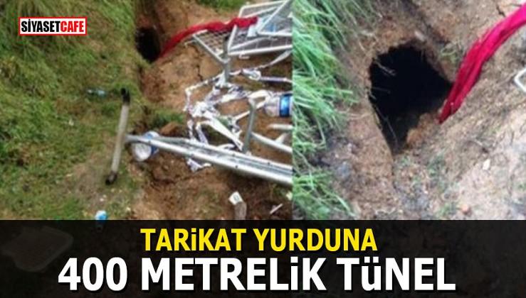 Tarikat yurduna 400 metrelik tünel