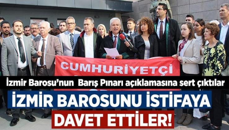 """İzmir'de avukatlar İzmir Barosu Yönetimine karşı ayağa kalktı: """"O açıklamanızı geri çekin"""""""
