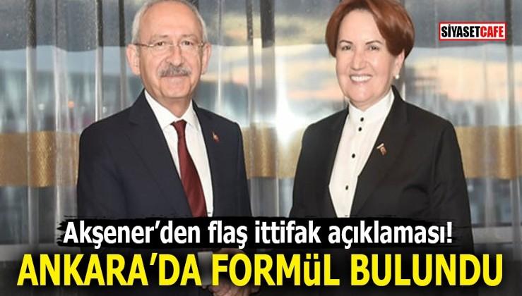 Akşener'den flaş ittifak açıklaması! Ankara'da formül bulundu