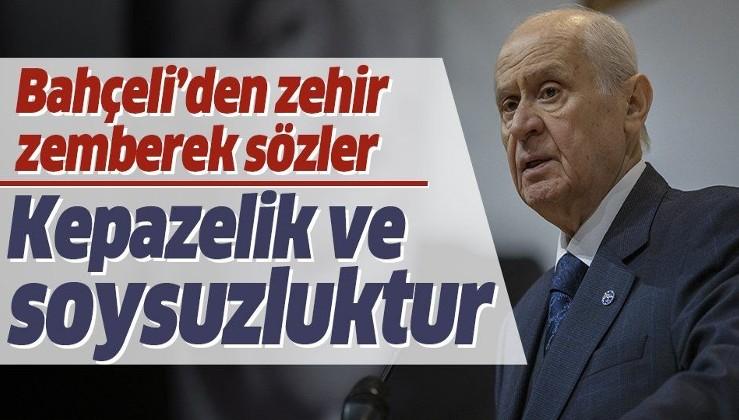Son dakika: MHP lideri Devlet Bahçeli'den AP'ye sert tepki: Kepazelik ve soysuzluktur.