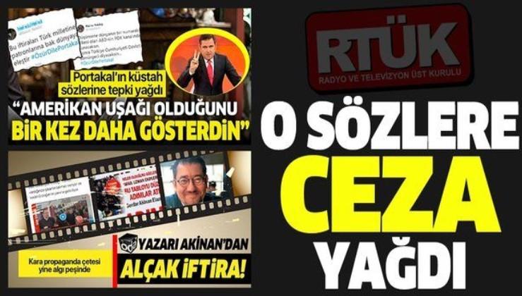 RTÜK'ten Fatih Portakal ve Serdar Akinan'ın sözleri nedeniyle FOX ve KRT'ye ceza.