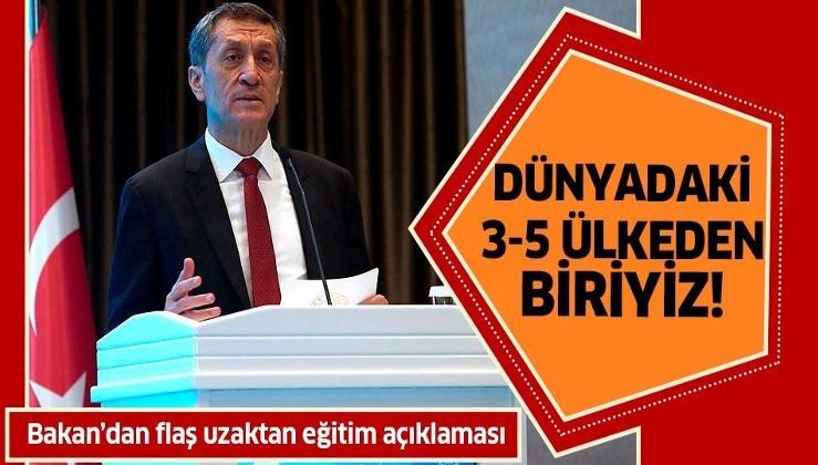 Son dakika: Milli Eğitim Bakanı Ziya Selçuk'tan flaş uzaktan eğitim açıklaması!