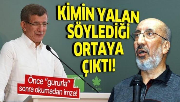 """Ahmet Davutoğlu'nun """"İstanbul Sözleşmesi"""" yalanı ortaya çıktı: """"Okumadan imzaladım"""""""