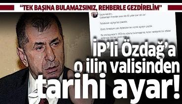Gaziantep Valisi Davut Gül'den İP'li vekil Ümit Özdağ'a tarihi ayar: Rehber eşliğinde tek tek gezdirelim