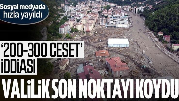 Kastamonu Valiliği'nden sel sonrası '200-300 ceset toplandı' iddialarına yalanlama