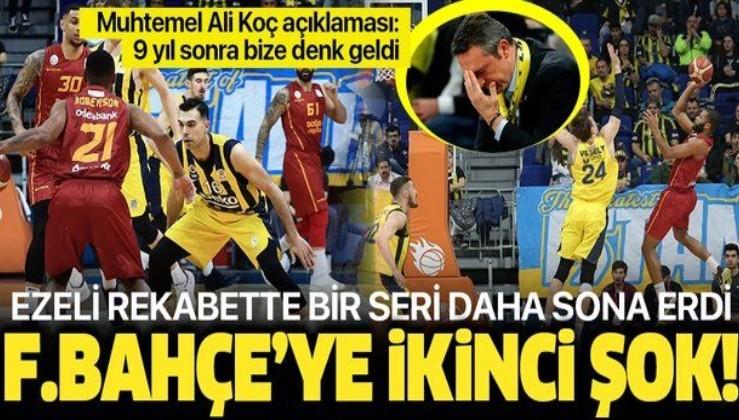 Basketbolda da hezimet! Ali Koç' a tepki.