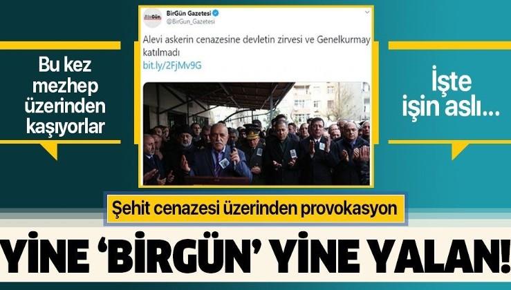 HDP'li medyadan şehit cenazesi üzerinden provokasyon!.