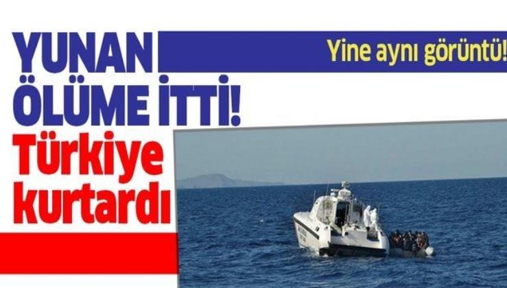 Son dakika: Çanakkale'de Yunan sahil güvenliğinin Türk kara sularına ittiği sığınmacılar kurtarıldı