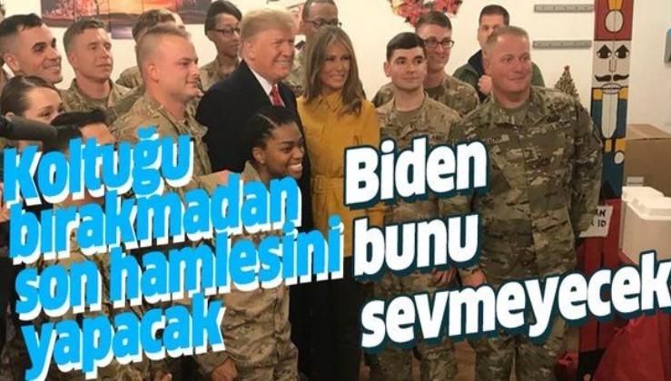 CNN duyurdu: Trump, başkanlığı bırakmadan Irak ve Afganistan'daki askerleri çekecek