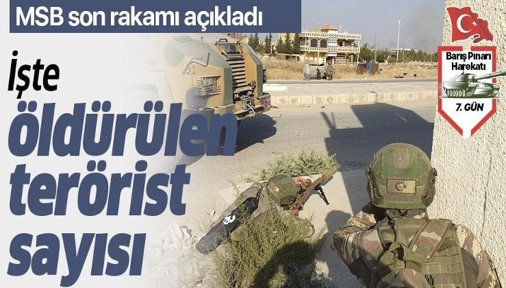 Son dakika: MSB açıkladı: İşte Barış Pınarı Harekatı'nda etkisiz hale getirilen PKK/YPG'li terörist sayısı.