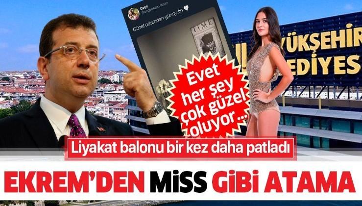 HANİ LİYAKAT! Miss Turkey güzellik yarışmasına katılan Özge Türkyılmaz İBB'de kariyer danışmanı oldu!