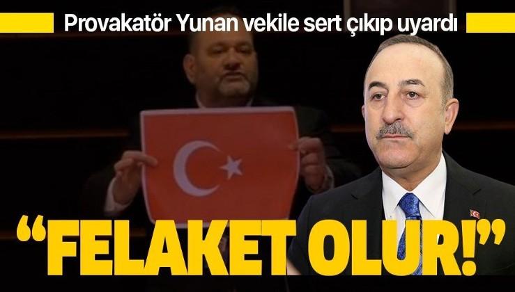 Dışişleri Bakanı Mevlüt Çavuşoğlu'ndan Yunan vekilin provokasyonuna sert tepki!.