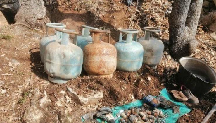PKK'lı teröristlere ait 5 mağara bulundu