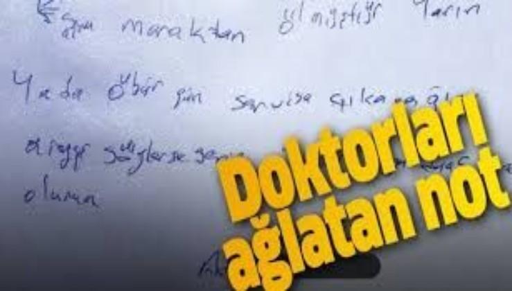 Koronavirüs hastasından doktorları ağlatan not