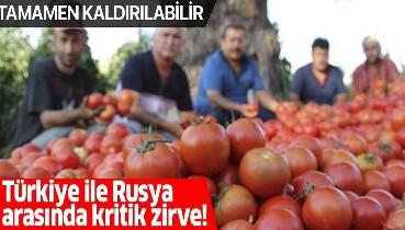 """Rusya ile """"domates kotası zirvesi"""" yarın! Bakan Pekcan da katılacak"""
