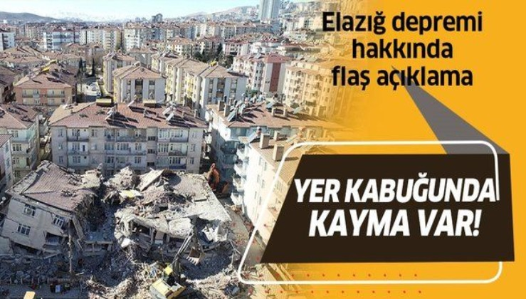 """İTÜ öğretim üyelerinden Elazığ depremi açıklaması: """"40 cm civarında yer değiştirme var""""."""
