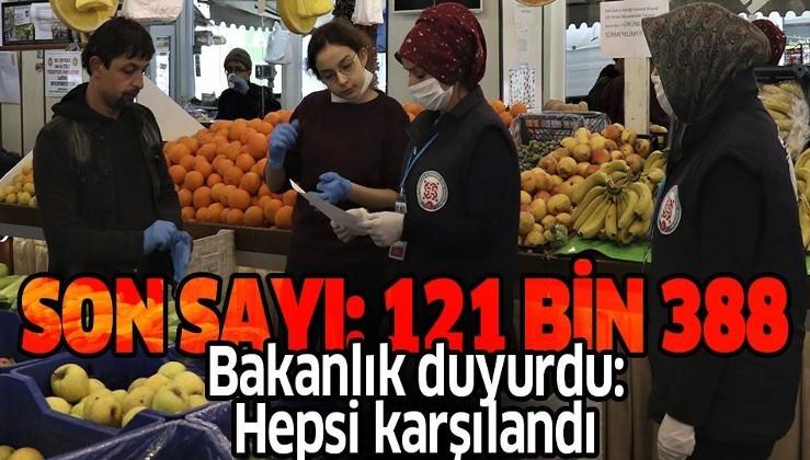 Son dakika: Bakanlık açıkladı: 121 bin 388 ihtiyaç talebi Vefa Sosyal Destek Gruplarınca karşılandı