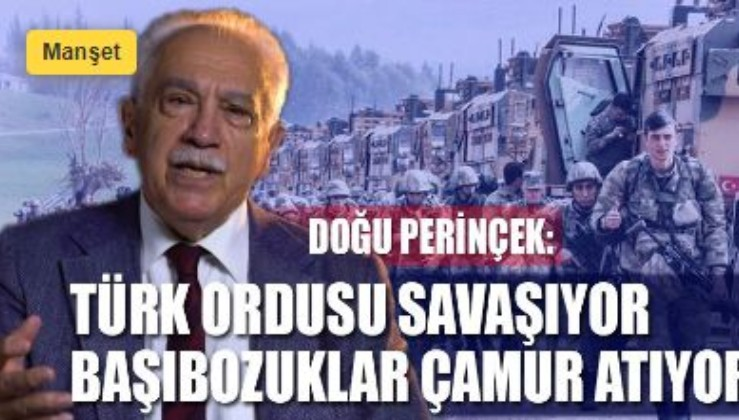 Doğu Perinçek esas saflaşmayı açıkladı: Türk ordusu savaşıyor, başıbozuklar çamur atıyor