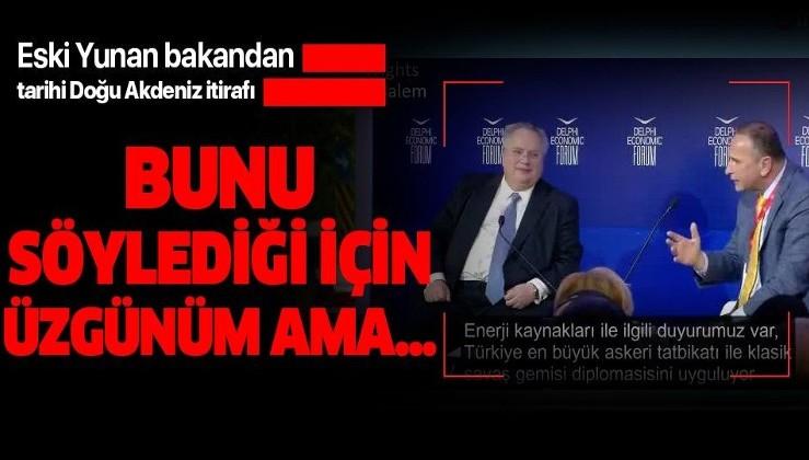 Doğu Akdeniz'deki Türkiye haklılığı bir kez daha gözler önüne serildi! Eski Yunan Bakan Kotzias'tan tarihi itiraf!
