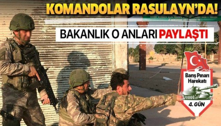 Milli Savunma Bakanlığı paylaştı: Komandolar Rasulayn'da!.