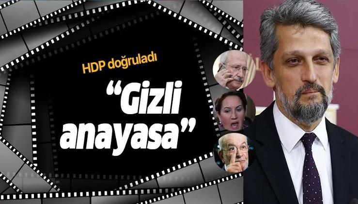 HDP Diyarbakır Milletvekili Garo Paylan, ''gizli anayasa'' çalışmalarını doğruladı