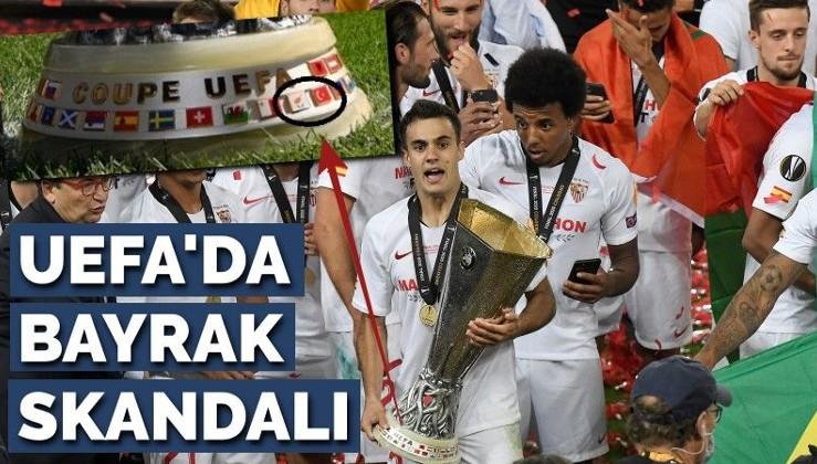 UEFA kupasında bayrak skandalı! Adeta Türkiye'nin damarına basıyorlar