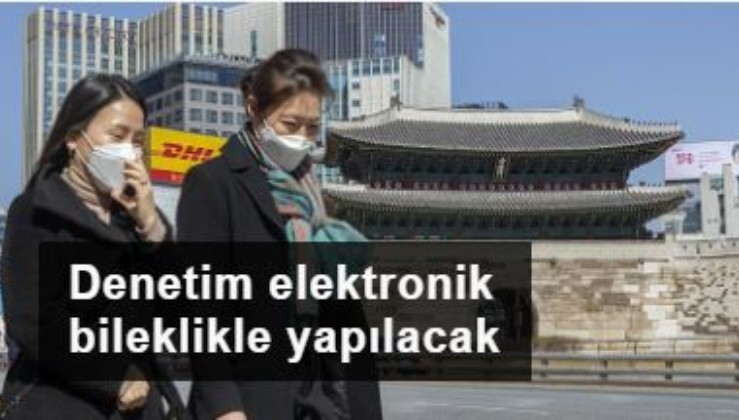 Güney Kore karantina denetimini elektronik bileklikle yapacak