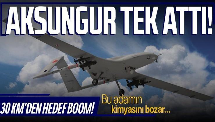 Aksungur SİHA'dan büyük başarı: İlk kez attığı hedefi 30 kilometreden vurdu!